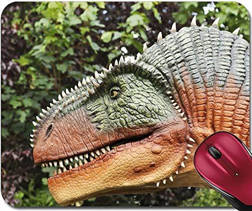 Mousepad Ein hungriger Allosaurus jagt in einem späten Jura-Dschungel