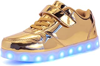 EVLYN LED Lighted Sneakers for Kids Boys Girls Children Casual Shoes USB Charging (Toddler/Litter Kids)