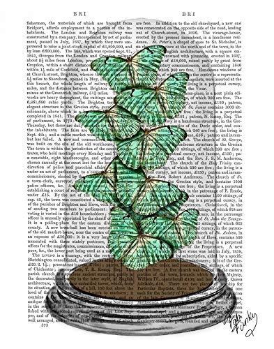 AFDRUKKEN-op-GEROLDE-CANVAS-Groene-Vlinders-in-Bell-Jar-FabFunky-Planten-en-dieren-Afbeelding-gedruckt-op-canvas-100%-katoen-Opgerolde-canvas-print-Kunstdr-Afmeting-49_X_38_cm