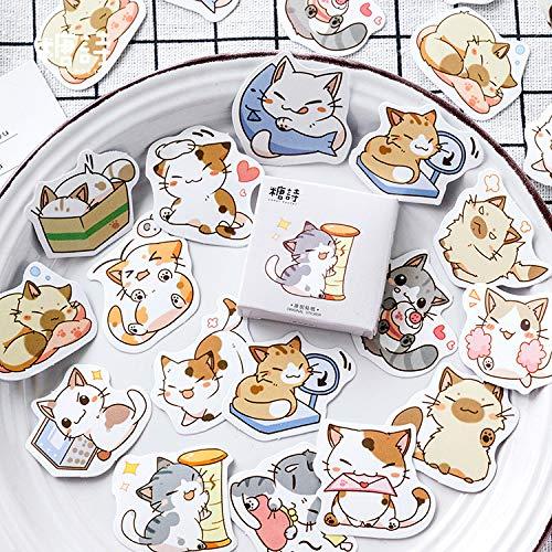 45pcs/pack Little Cat Mini Paper Sticker Decoration Diy Diary Scrapbooking Label Sticker Kawaii Stationery