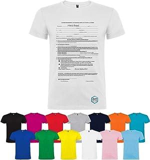T-shirt personalizzata autocertificazione diversi colori disponibili