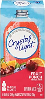 Crystal Light Fruit Punch Drink Mix (40 On the Go Packets, 4 Boxes of 10)