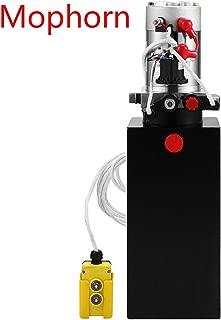Mophorn 10 Quart Hydraulic Pump Power Unit Dump Trailer (Steel, 10 Quart/Double Acting)