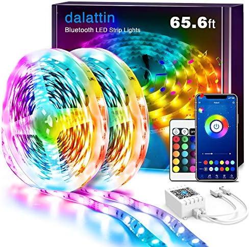 LED Lights for Bedroom Bluetooth 65 6ft 2 Rolls of 32 8ft Dalattin Smart LED Strip Lights Sync product image