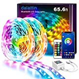 LED Lights for Bedroom Bluetooth 65.6ft,2 Rolls of 32.8ft,Dalattin Smart LED Strip Lights Sync to Music Color Changing Lights 5050 RGB with APP Control,Remote for Room,Kitchen,Party