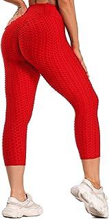FITTOO Mallas 3/4 Leggings Capris Mujer Pantalones Yoga Alta Cintura Elásticos Super Suave