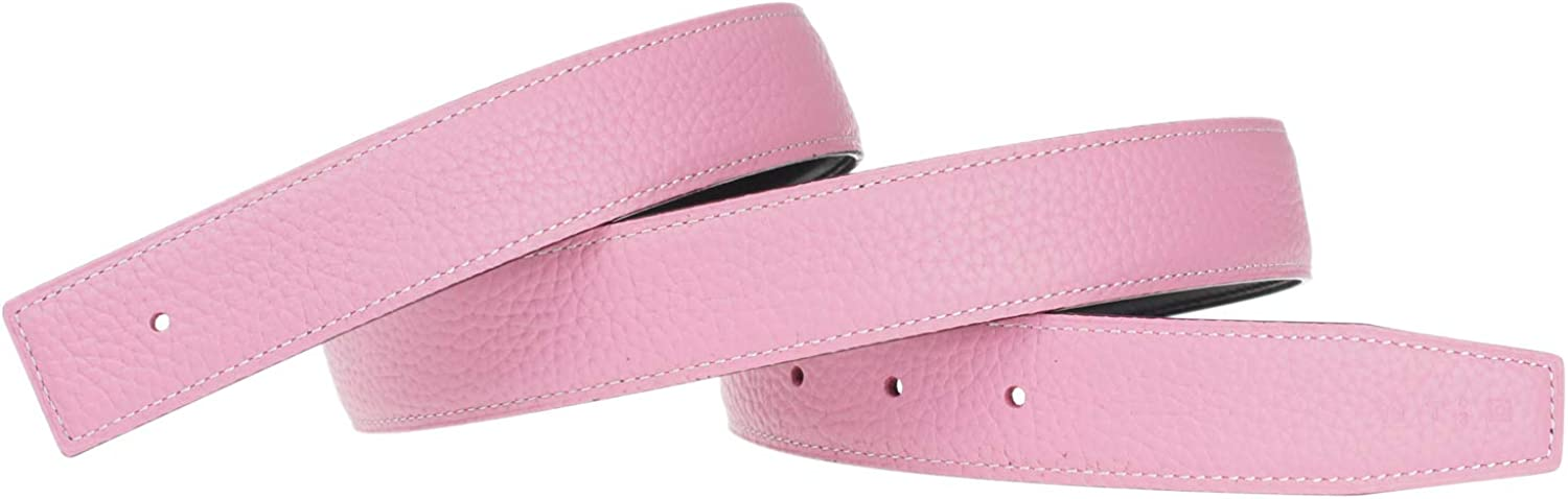 Replacement Belt for Women Reversible Belt Strap Genuine Leather Strap 1.3in Wide 30inch Pink