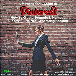 5 Minutes a Day Guide to Pinterest audiobook cover art