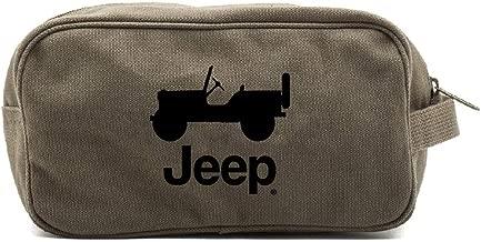 Grab A Smile JEEP CJ Canvas Shower Kit Travel Toiletry Bag Case