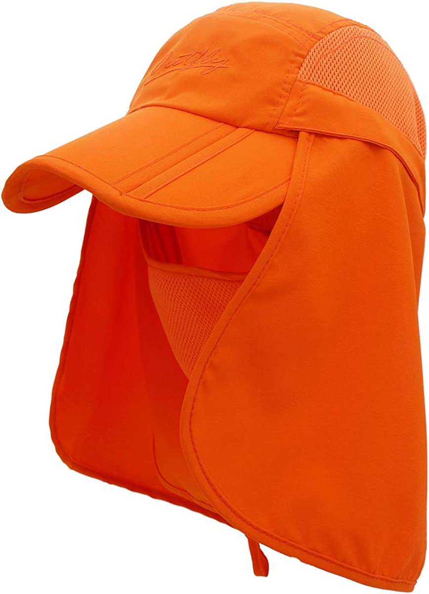 Surblue Neck Face Flap Outdoor Cap UV Protection Sun Hats Fishing Hat Quick-Drying UPF50+