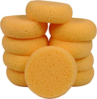 Creative Hobbies 10 Pack of 3-1/2 Inch Round Synthetic Silk Sponges for Painting, Crafts, Ceramics, Household Use & More! Pack of 10 Sponges