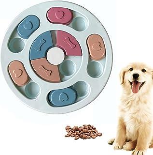 SUOXU Dog Puzzle Slow Feeder Dog Toy, Puppy Treat Dispenser Feeder Toy, Interactive Dog Puzzle Feeder Dog Training Improve IQ Puzzle Dog Bowl (Blue)