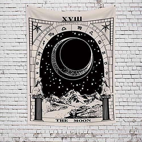 Tarot Tapiz decorativo Tarot Astrología Adivinación Decoración de estilo indio Decorar la vida del hogar 150x200cm / L