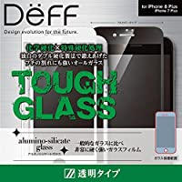 Deff(ディーフ)TOUGH GLASS for iPhone 8 Plus フルカバー(iPhone 8 Plus/iPhone 7 Plus)二次硬化ガラス使用 (通常・ホワイト)