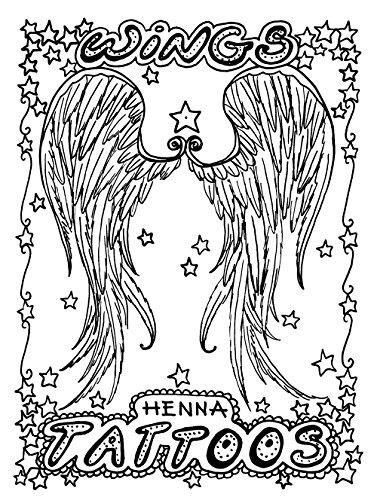 HennaKing Henna Tattoo Design Books (Wings)