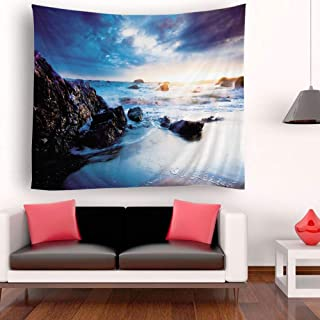 Roloiki Tapestry Wall Hanging Scenery Tapestries Seaside Scenery Tapestry Wall Decoration For Bedroom Living Room Dorm 51....