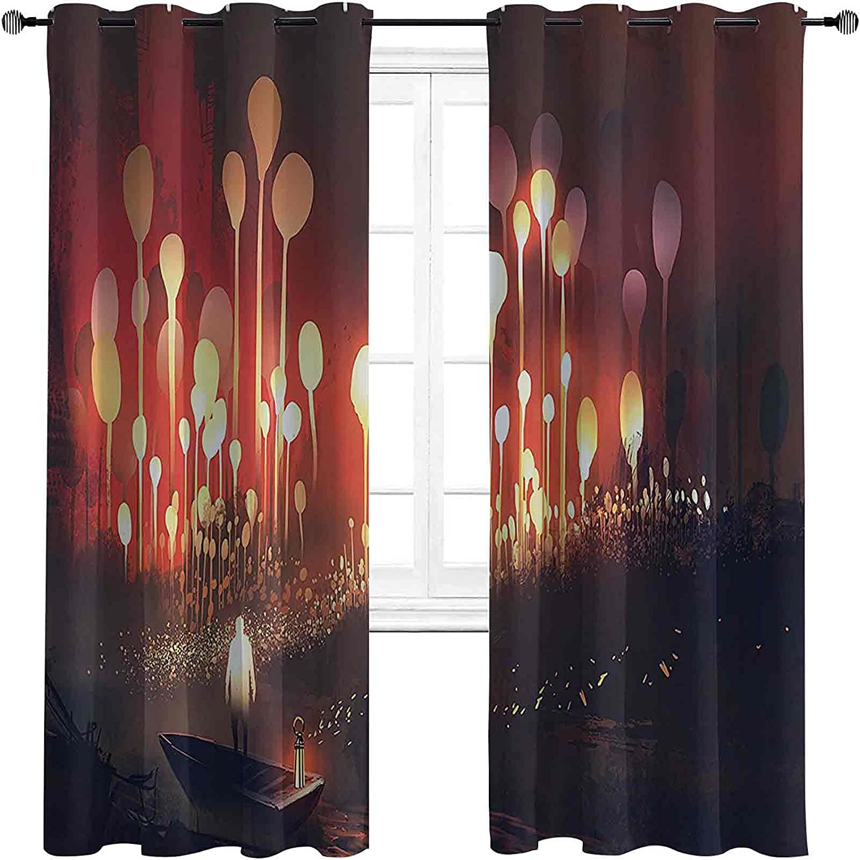 Fantasy Decor Blackout Curtains with Scen Ranking specialty shop TOP18 Grommets darken Night