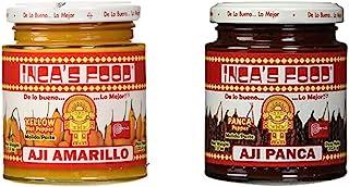 Inca's Food Mixed Sampler - Aji Amarillo, Aji Panca 7.5 OZ (2 Jars)