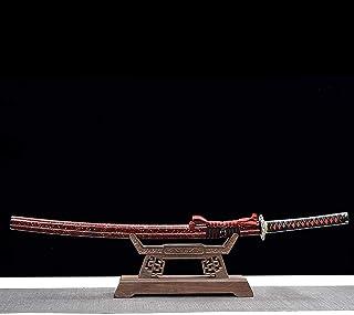 QLTY Katana de Madera con Vaina,Espada de Madera, Cuchillo de Madera,práctica de Kendo,Entrenamiento de Artes Marciales,Ac...