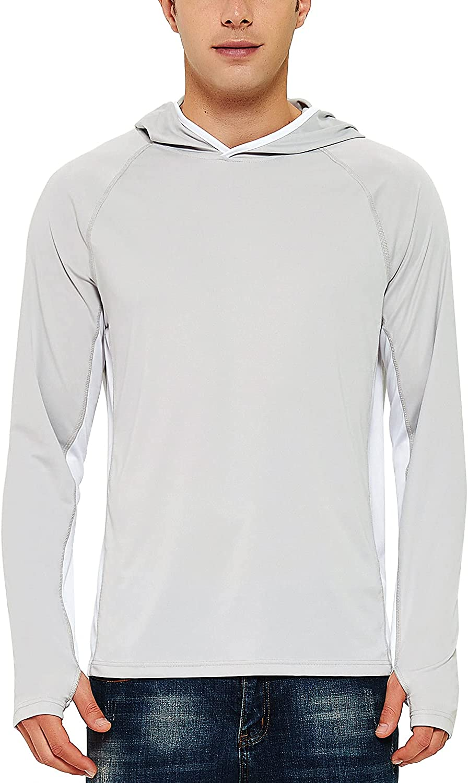 FIRST shop WAY Men's UPF 50+ Super sale Sun Shirt Sleeve Hoodie Long Protection