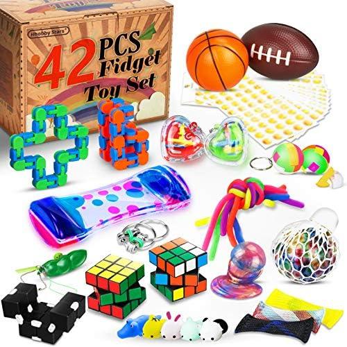 42 Pcs Sensory Fidget Toys Set Stress Relief and Anti Anxiety Tools Bundle Toys Assortment Stocking product image