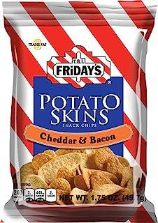 TGI Fridays Cheddar and Bacon Potato Skins - 1.75 oz. bag, 55 per case