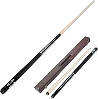 Pool Cue, 1/2 Section, Billiard Stick for Black Eight/Snooker, Leather Grip Comfortable to The Touch, 57 in 19 oz Standard...