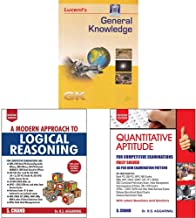 General Knowledge+A Modern Approach to Logical Reasoning (2 Colour Edition)+Quantitative Aptitude for Competitive Examinat...