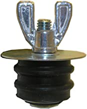 LASCO 13-1820 Economy Rubber Test Plug with Easy Grip Wing Nut, 2-Inch