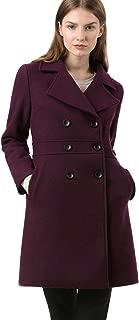 Allegra K Women's Double Breasted Notched Lapel Long Winter Coats