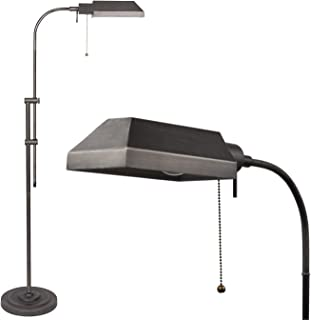 Kira Home Prescott 58 Adjustable Standing Pharmacy Floor Lamp, Brushed Pewter Finish, Includes 6W LED Bulb (60W eq.) Energy Efficient, Eco-Friendly