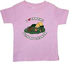 inktastic I Heart Camping with My Stepmom with Hedgehog and Baby T-Shirt