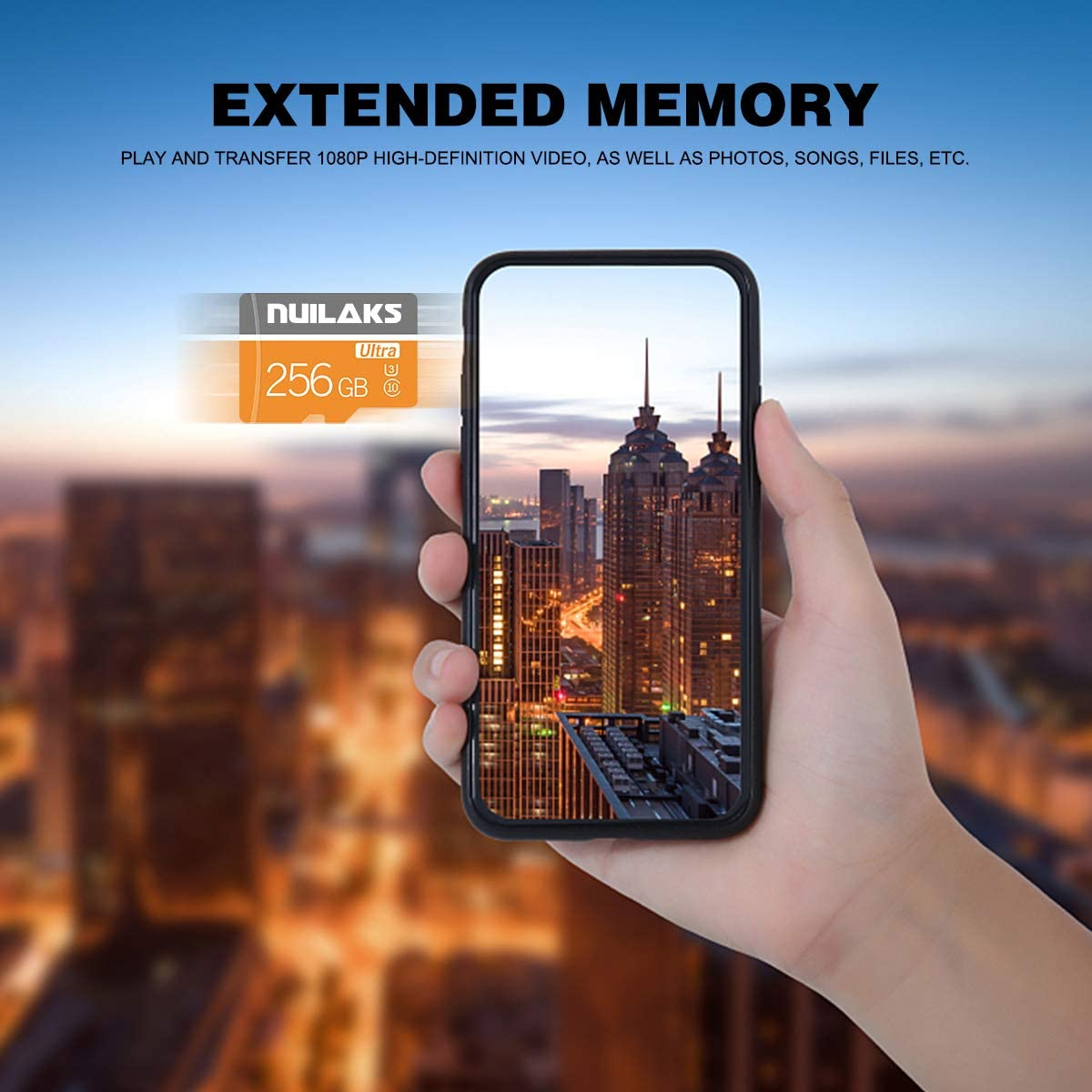 256GB Memory Card Class 10 Card Micro SD Card Compatible Computer Camera and Smartphone,TF Memory Card with SD Card Adapter(256GB)