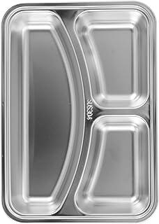 HEMOTON Table de salle à manger intégrée en acier inoxydable de la cantine (petite table plate en acier inoxydable type 30...