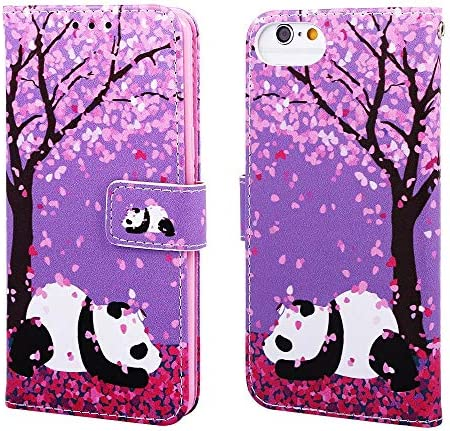 ISADENSER iPhone 6 Case iPhone 6S Case Wallet Stand Cute Animals Flip Folio Notebook PU Leather product image
