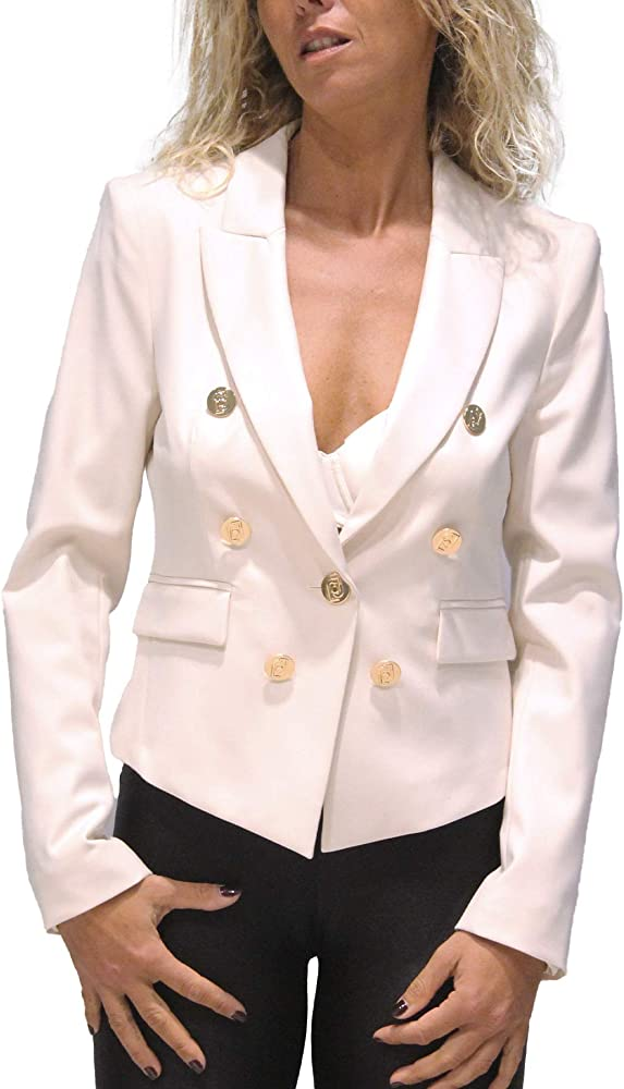 Liu jo, giacca per donna,70% Viscosa, 26% Poliestere, 4% Elastan, taglia 46 eu CF0055T1801