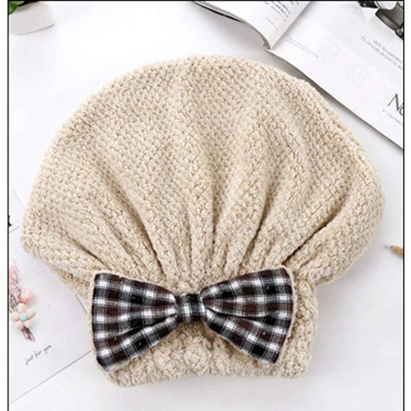 ノート遺跡確かめるSwiftgood ヘアタオルラップ、ボタン付きヘアドライヤータオル、マイクロファイバーヘアタオル、乾いた髪の帽子、バスヘアキャップ