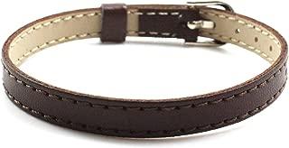 10PCS 8MM Artificial Leather DIY Wristband Bracelets Femme Mix Color Charms Leather Bracelet Fit Slide Letter/Charms LSBR01510