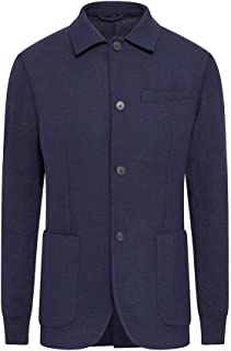 Hackett London Men's Knitted Sleeves Blazer