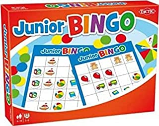 Junior Bingo 40498 Tactic Bright & Bold Simple to Learn & Easy to Use | Colourful Bingo Set for Young Children | Value Kid...