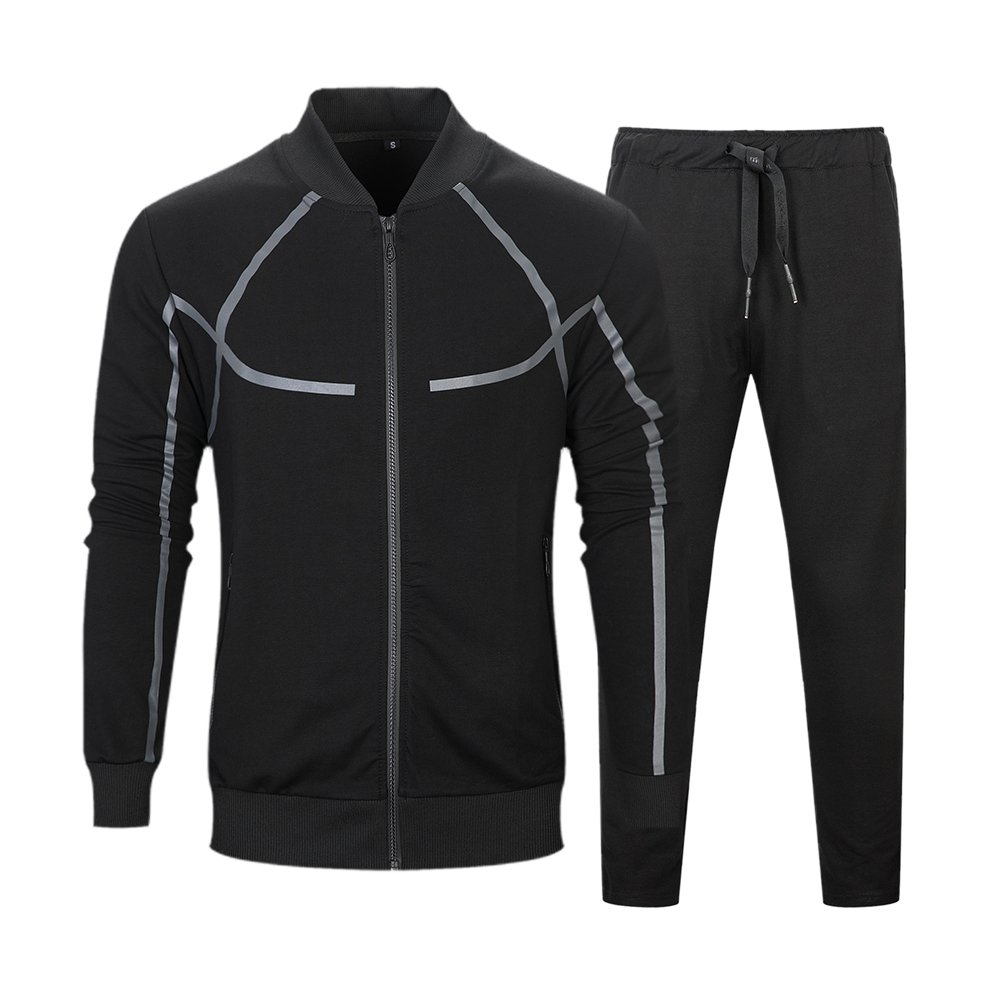 Mens Full Zip Tracksuit Set Casual Jogging Athletic Sweat Suits