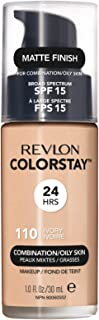 Revlon ColorStay Liquid Foundation For Combination/oily Skin, SPF 15 Ivory, 1 Fl Oz - Packaging may vary
