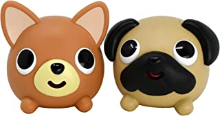 Jabber Ball Dog Pug and Chihuahua Bundle: for Stress and Anxiety Relief, Fun, and Laughs (2 Items)