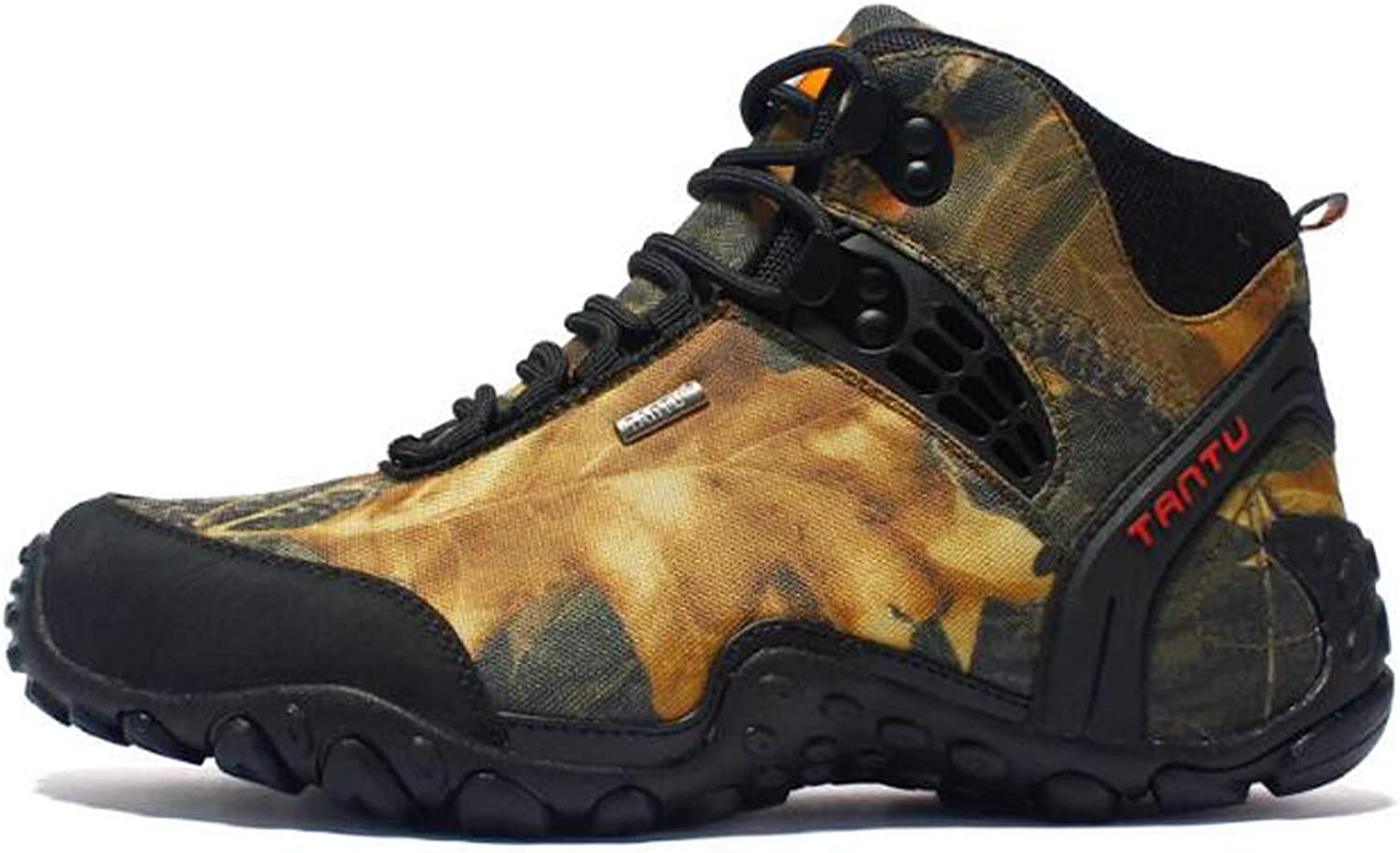 Adong Men's Water-Repellent Hiking Boots Military High-top shoes Tactical Jungle Trekking shoes Lace Up Work Combat All Terrain Wear-resistant Boots,B,43EU