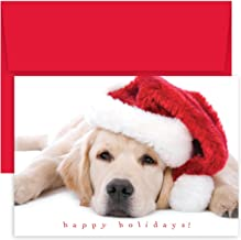 Great Papers! Holiday Greeting Card, Santa Puppy, 18 Cards/18 Envelopes, 7.875