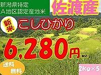 平成28年新潟県産特定産地米 (佐渡産2㎏×5)