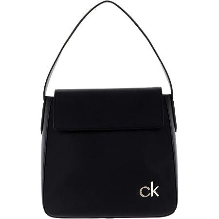 Calvin Klein Damen W/Flap Hobo mit Klappe, Schwarz, 28 Inches, Extra-Large