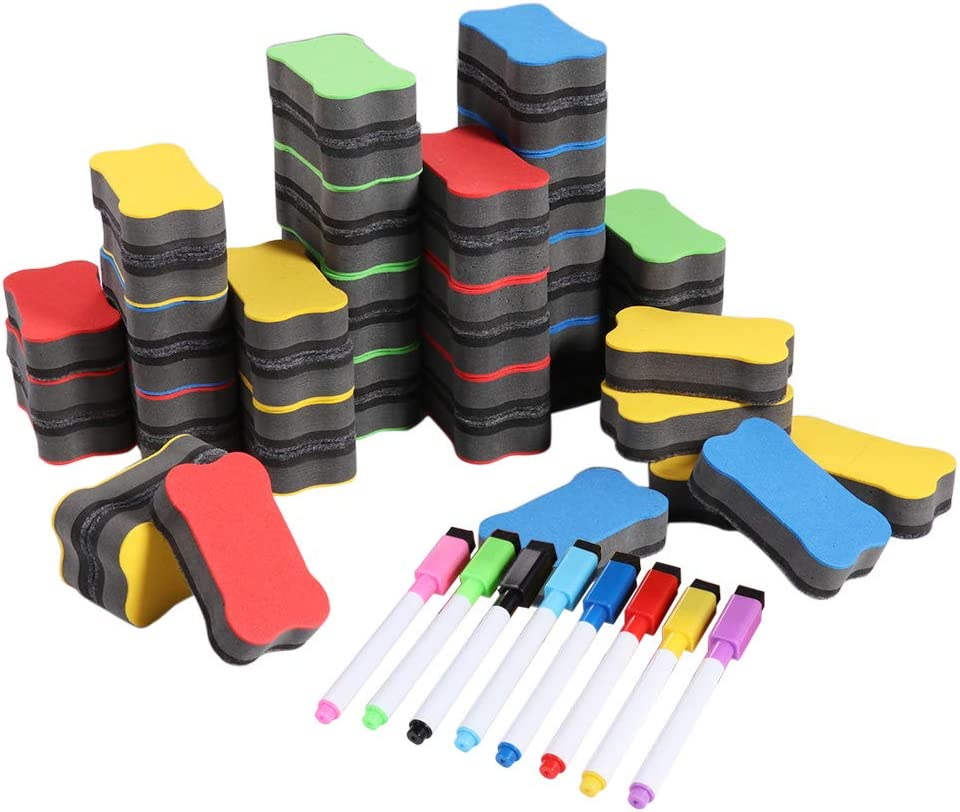 She-Lin Quality Time sale Magnetic Max 49% OFF Whiteboard Dry Eraser Erasers