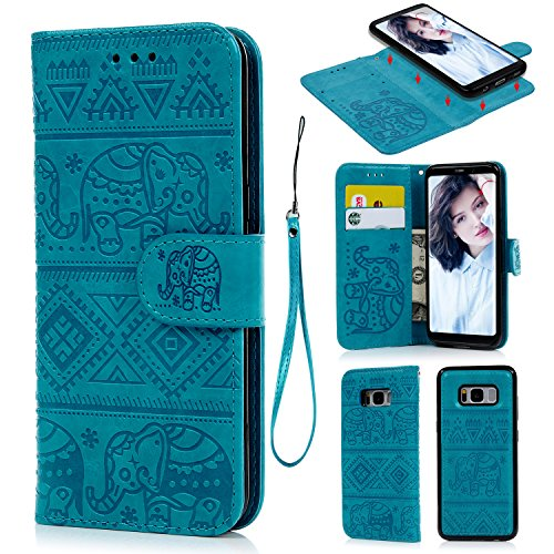 for Samsung Galaxy S8 Case, PU Leather Floral Half Flower Design Magnetic PU Leather Case Wallet Fli - http://coolthings.us