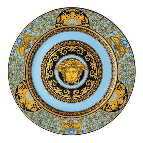 Versace Plato para servir Medusa Celeste 30 cm